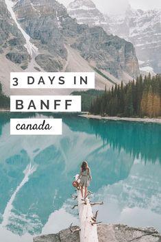Best of Banff National Park (Canada) – Three Days in Banff Itiner… – North America travel - Travel Destinations Backpacking Canada, Canada Travel, Backpacking Tips, Camping Gear, Travel Usa, Best Of Banff, Canada Winter, Canada Summer, Banff National Park Canada