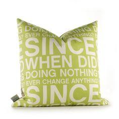 graphic pillows from Inhabit Living Pillow Fight, Pillow Talk, Modern Throw Pillows, Decorative Throw Pillows, Contemporary Pillows, Pillow Quotes, My Living Room, Joss And Main, Custom Pillows