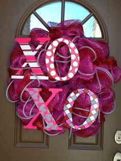 Valentine's Deco Mesh Wreath