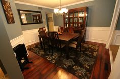 Valspar Cafe Blue.  Love this dining room!