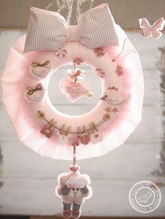 Baby Hospital Door Hanger, Hospital Door Decoration, Personalized Baby Wreath, Baby Gift by #LollyCloth