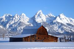 Moulton Barn on Mormon Row, Grand Teton National Park, Wyoming