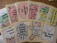 Make file folder references for themed words. As you are doing a unit in the year, put the folder where kids can grab it easily for writing.