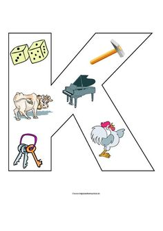 K Alphabet Worksheets, Alphabet Activities, Preschool Worksheets, Learning Activities, Activities For Kids, English Phonics, Polish Language, Spelling Games, Pre Writing
