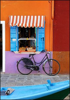 Burano - A lovely little Fishing Village where each house is identified by the color