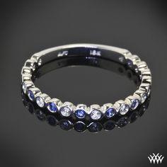 Danielle Jazz Bezel Diamond and Sapphire Right Hand Ring