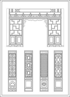 General Aspects of Chinese Architecture. Ever since ancient history, the persons developed wood constructions, structures made along with rammed soil, and historial structures and constructs made along with stone or paver brick. Chinese Door, Chinese Table, Chinese Buildings, Ancient Chinese Architecture, Architecture Details, Modern Architecture, Style Chinois, Chinese Interior, Chinoiserie