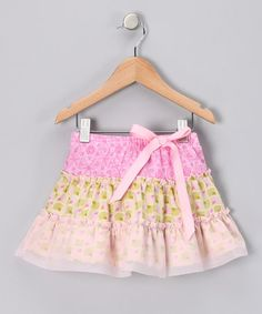 Take a look at this Pink & Citrus Tiered Ruffle Skirt - Toddler & Girls by Blow-Out on #zulily #fall today!