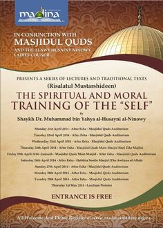 The Spiritual and Moral Training of the Self