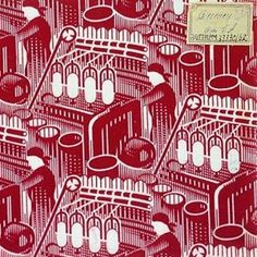 'Red Spinner', fabric design depicting cotton mill workers, by Andrey Golubev, A perfect example of how images of heavy industry and machinery found its way into the homes of ordinary Soviet home. See it in 'Revolution: Russian Art at the Royal Academy. Textiles, Textile Patterns, Textile Prints, Modern World History, Russian Constructivism, Jewish Museum, Russian Revolution, Soviet Art, Royal Academy Of Arts