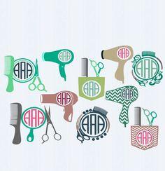 Hairdresser Hair dresser svg, Salon svg,Monogram Frames Svg cutting   file,beauty salon svg,Cricut Design Space, Silhouette Studio,Digital by…