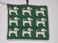 Potholders, Knits, Cross Stitch Patterns, Knitting, Crochet, Dogs, Breien, Pot Holders, Hot Pads