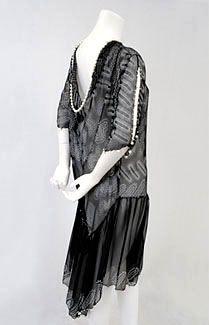"Zandra Rhodes ""Sparkle"" chiffon dress 1970's-1980's"