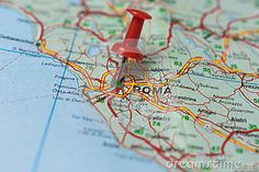 Photo about Macro shot of Rome map with push pin shows Rome. Image of journey, business, line - 83648448 Rome Map, Macro Shots, Stock Photos, Image