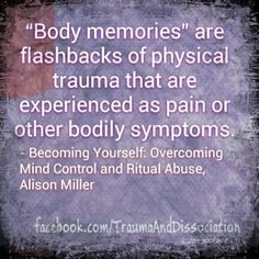 #ptsd flashbacks can be mistaken for tactile hallucinations - these are body memories https://www.facebook.com/TraumaAndDissociation/photos/a.410699469031485.1073741872.357814604319972/580148088753288/?type=1