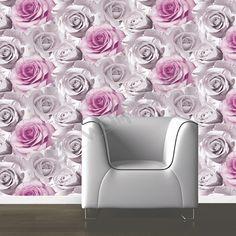 Muriva Madison Rose Floral Bloom Wallpaper - Pink - http://godecorating.co.uk/muriva-madison-rose-floral-bloom-wallpaper-pink/