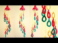Empty Plastic bottle wind chime   Easy Best Out of Waste Wind Chime   Newspaper Creative Idea   DIY - YouTube Fabric Glue, Fabric Beads, Empty Plastic Bottles, Tao, Newspaper, Wind Chimes, Videos, Dream Catcher, Youtube