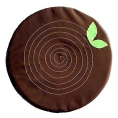 Seat Floor Cushion Stumpie Dark Brown by littleoddforest on Etsy