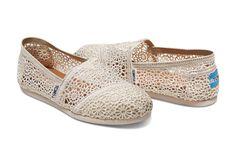 870f473ddb2 Natural Moroccan Crochet Women s Classics. Loafer FlatsToms FlatsToms Shoes  ...