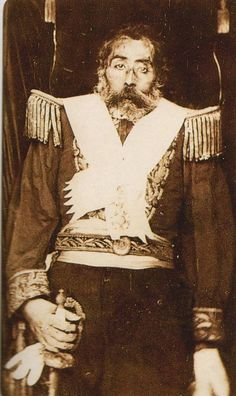 Post mortem portrait of Venancio Flores, the President of Uruguay, who was assassinated in 1868.