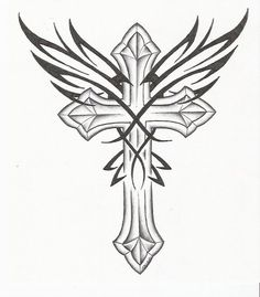 tatoo designs, cross with wings - Google Search