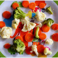 Wortel, bloemkool en broccoli