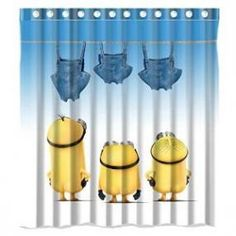 Laundry Day Minion Shower Curtain