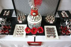 Black & white red carpet party.