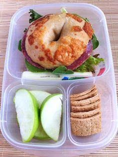 Operation: Lunch Box: Day 14 - Bagel Sandwich
