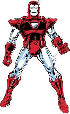 Iron Man armour suit - Mk. VI Silver Centurion - Marvel Comics. From the splash page that revealed the armour.