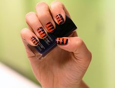 Got You Covered: DIY Denver Broncos Nail Art | MTV Style- This is so happening! 5-0 <3