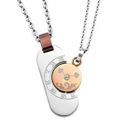 Inori Necklace - TIME - 2 PENDANT SET - Stainless Steel  Item 1105831724    Inori is a Japanese word meaning Prayer for Harmony, Hope and Balance - an ancient wish in a contemporary, stylish form.    What story would these pendants tell in your life?  Time stands still without you? I am with you till the end of Time? I'm having the Time of my life? This is my Time?