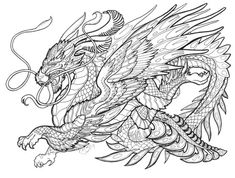 mythical creatures coloring pages bing images coloring pages pinterest mythical creatures embroidery and patterns - Mythical Creatures Coloring Pages