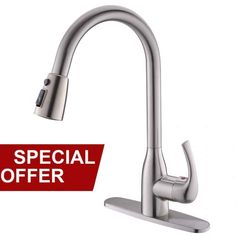 Get Offer Lead-free Modern Commercial Brushed Nickel Stainless Steel Single Handle Pull Down Sprayer Kitchen Sink Faucet, Pull Out Kitchen Faucets With Deck Plate Kitchen Faucet With Sprayer, Best Kitchen Faucets, Best Faucet, Pull Out Kitchen Faucet, Buy Kitchen, Kitchen Fixtures, Kitchen Handles, Luxury Kitchen Design, Best Kitchen Designs