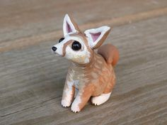 Tiny fennec fox  Handmade miniature polymer clay by AnimalitoClay, $28.00