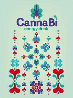 Canna Bì - Energy Drink by Camilla Mendini, via Behance