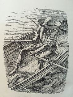 By C F Tunnicliffe and Raymond Sheppard from the Reprint Society edition of Ernest Hemingway's 'The Old Man and the Sea'.