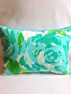 Lilly Pulitzer Pillow  Lilly Pulitzer First by SweetBabyBurpies