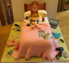 Messy bed cake. 18th Birthday Cake For Girls, 3d Birthday Cake, 13th Birthday, Birthday Wishes, Unique Cakes, Creative Cakes, Bed Cake, Messy Bedroom, Create A Cake
