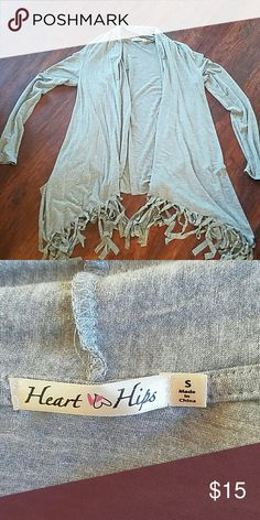 Heart Hips Boutique Fringed Cardigan Excellent condition Heart hips Sweaters Cardigans