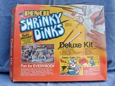 Shrinky Dinks..I loved begging my mother to turn the oven on and cook these babies up for me !
