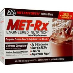 You'll get better results! MET-RX Meal Replacement Drink Mix 1-2-40 packs love better quality #METRX