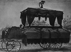 LOC photo of the funeral car that conveyed Abraham Lincoln's remains from the White House to the Capitol on April 19, 1865