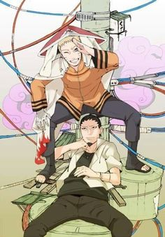 Nara Shikamaru & Uzumaki Naruto (Hokage)