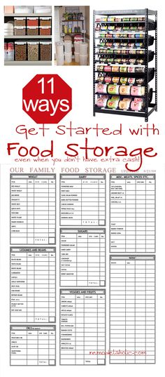 Great budget food storage ideas, for when you think you don't have the cash to get started! (be there is plenty you can do!)