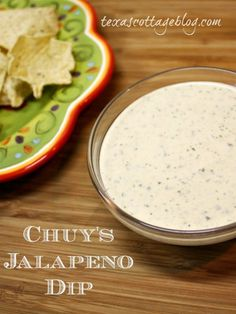 Texas Cottage: Chuy's Jalapeño Dip---I'm really pumped about this, but I need a substitute for the dried ranch because it has MSG in it.  Any ideas???