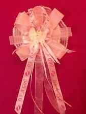 PINK CORSAGE CAPIA BABY SHOWER BAPTISM COLD PORCELAIN BOY MOM FAVORS HANDCRFTD