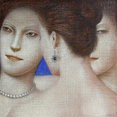 'The Three Sisters' by Serbian painter Vladimir Dunjić (b.1957). Oil on canvas. via Blog of an Art Admirer