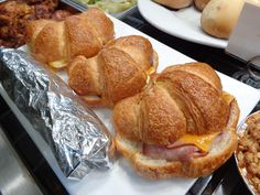 Ham, cheese and egg croissants