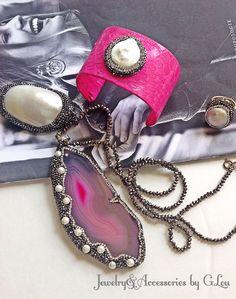 Beautiful Combo Set.Turkish Jewelry.Love Hot Pink.Snake Skin Cuff.Hand Made Jewelry.Summer Collection 2016. #SummerCollection#SnakeSkinCuff#JewelryforSale#SummerColors#LoveTurquoise#TurkishJewelry#TurkishDesign#FashionJewelry#LoveHotPink#CandyCuff#BeautifulNecklace#Marquesite#GorgeousRing#ByGLouJewelry#
